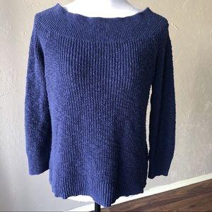 Gap Wide Crew Neck Sweater Blue